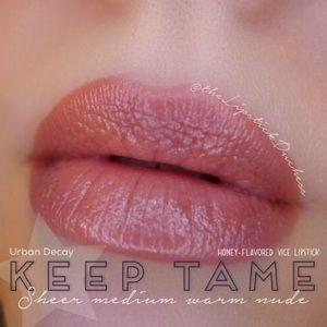2/$20 urban decay keep tame lipstick bee nude pink